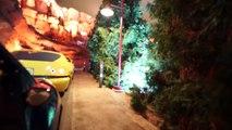 Aventure Californie appareil photo lumière faible sur coureurs radiateur balade ressorts Disney pov