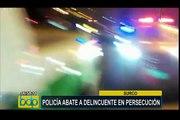 Surco: policía abate a delincuentes tras persecución en la avenida Monterrico Sur