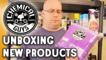 CHEMICAL GUYS NEW PRODUCTS UNBOXING - CITRUS WHEEL GEL, DECON IRON REMOVER, EZ CREME GLAZE & MORE