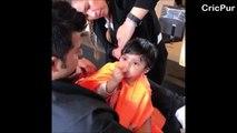 SURESH RAINA having a HAIRSTYING of his cute daughter GRACIA RAINA   Priyanka Chaudhary   Cricpur