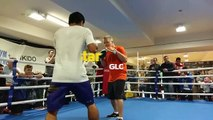 Manny Pacquiao sharpens his right hook