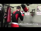 ukranian boxing star Alexander Gvozdyk at robert garcica boxing academy EsNews Boxing