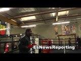 gold medal winner felix diaz shadow boxing at robert garcia boxing academy EsNews Boxing