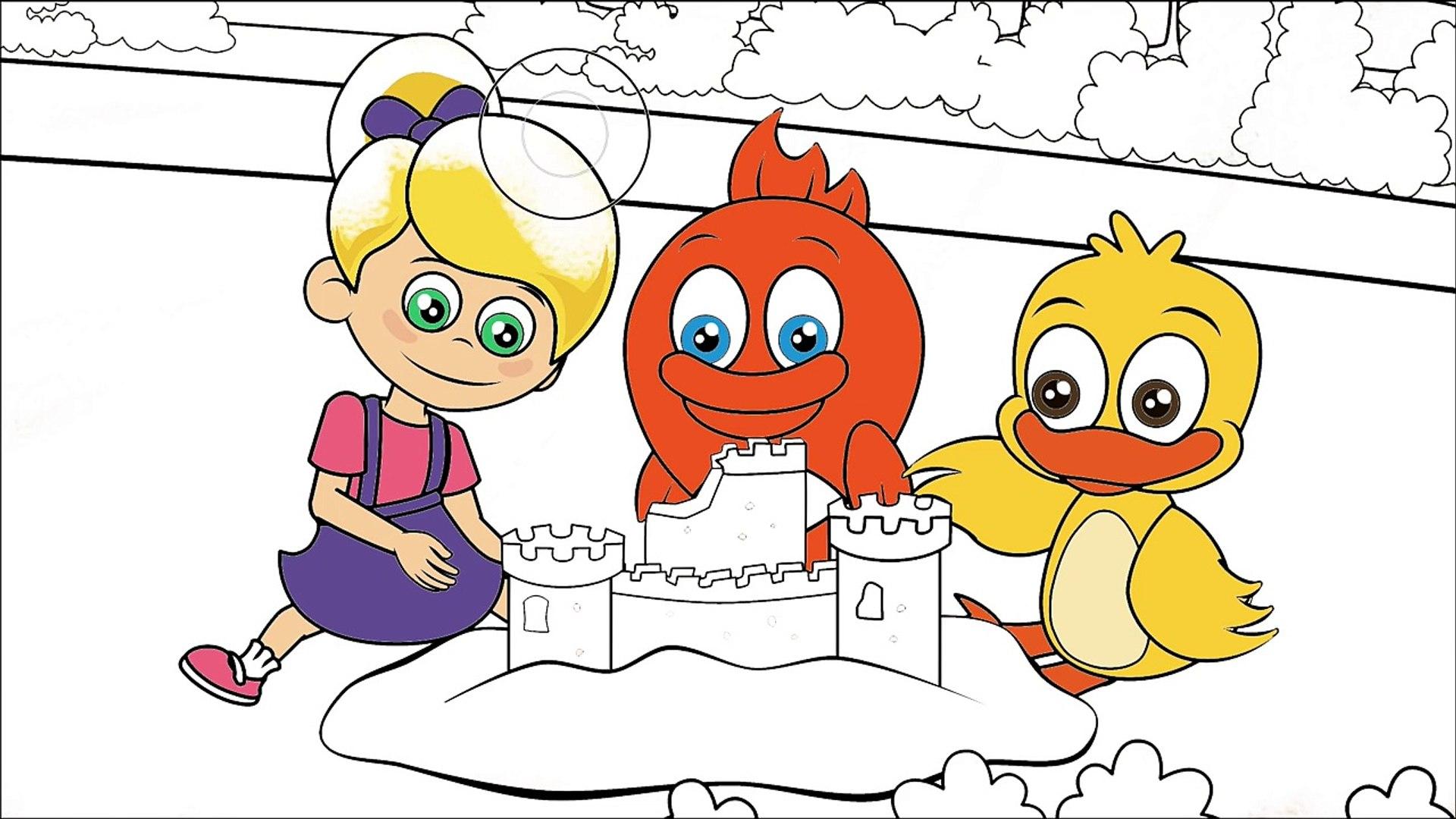 Sevimli Dostlar çizgi film karakter boyama sayfası 6,Çizgi film izle animasyon 2017