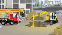 Трактор едет по Городу - Трактора для Детей и Грузовичок - Мультфильмы для детей