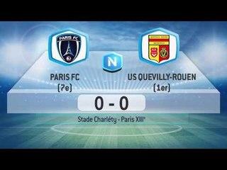 Résumé du match Paris FC - Quevilly-Rouen Métropole (J-30)