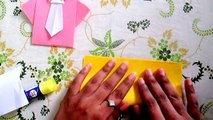 Un à lettres génial artisanat bricolage Comment innovant faire faire papier chemises attacher à Il avec Origami