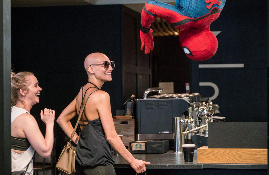 SPIDER-MAN COFFEE PRANK – Awesome !