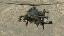 Apache Helicopter Fires Lasers