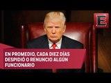 Renuncias reordenan la administración de Donald Trump