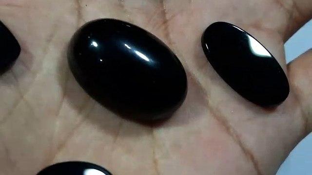 Black Agate Gemstone yamni aqeeq Black Aqeeq In Pakistan