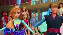 Cendrillon danse ce gelé fête homme araignée Anna elsa kristoff rapunzel belle barbie ariel