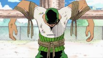 Luffy met Zoro for first time One Piece