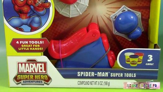 Pâte à modeler Play Doh Spiderman Outils Super Héros Spiderman vs Frozen Elsa in Real Life - 動画 ...