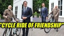 Modi in Netherlands : Dutch PM gifts bicycle to Narendra Modi | Oneindia News