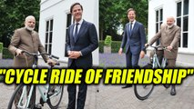 Modi in Netherlands : Dutch PM gifts bicycle to Narendra Modi | Oneindia News