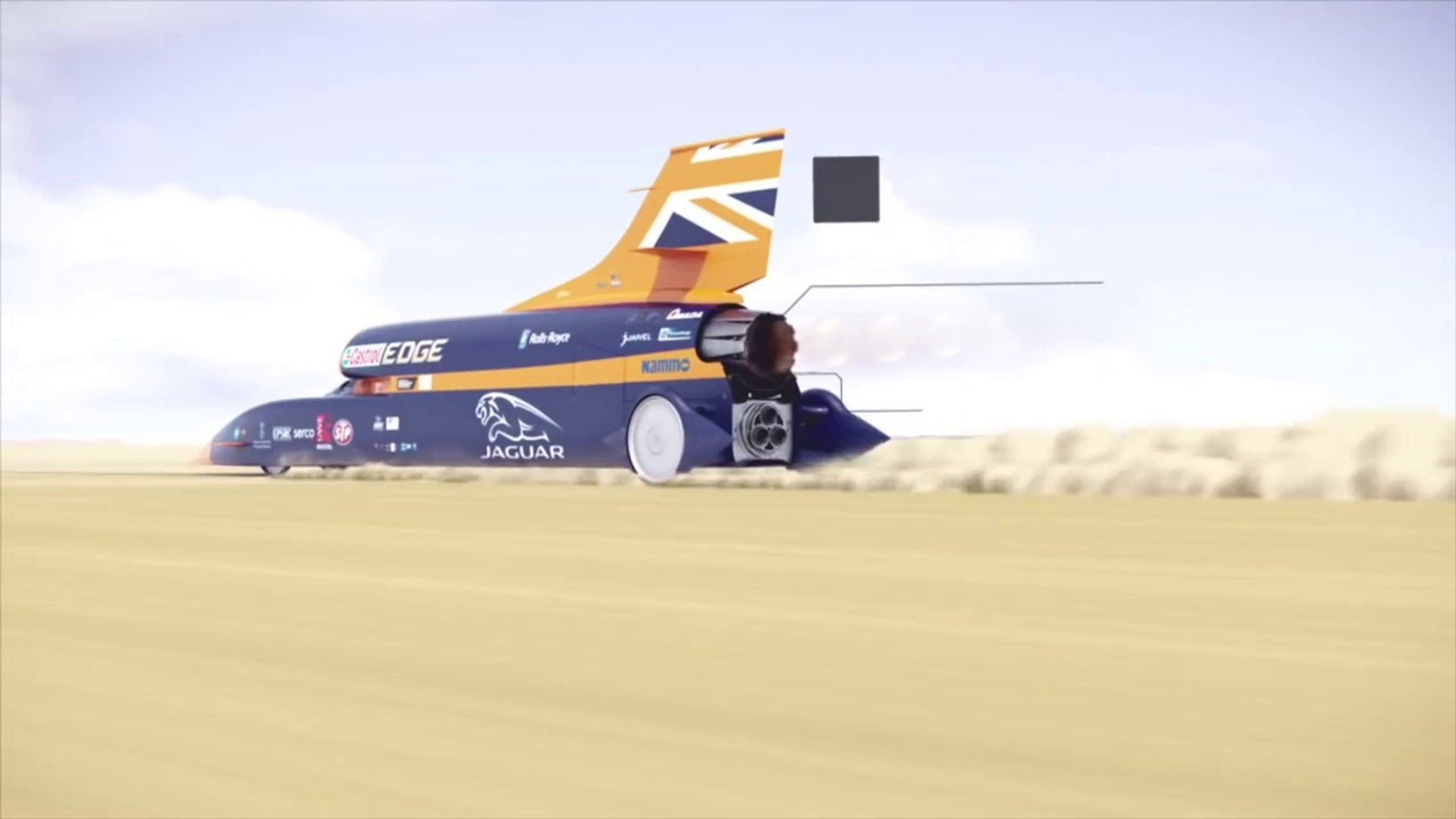 Fly through the 1,000mph BLOODHOUND Supersonic Car-krcLN