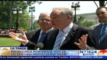 """""""El proyecto de la ley republicana no es una reforma de salud, es una sentencia de muerte"""": Bob Menendez, Senador demócrata de EE. UU."""