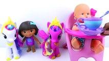 Et bébé bulle poupée gelé petit mon fête poney thé jouet avec Nenuco dora