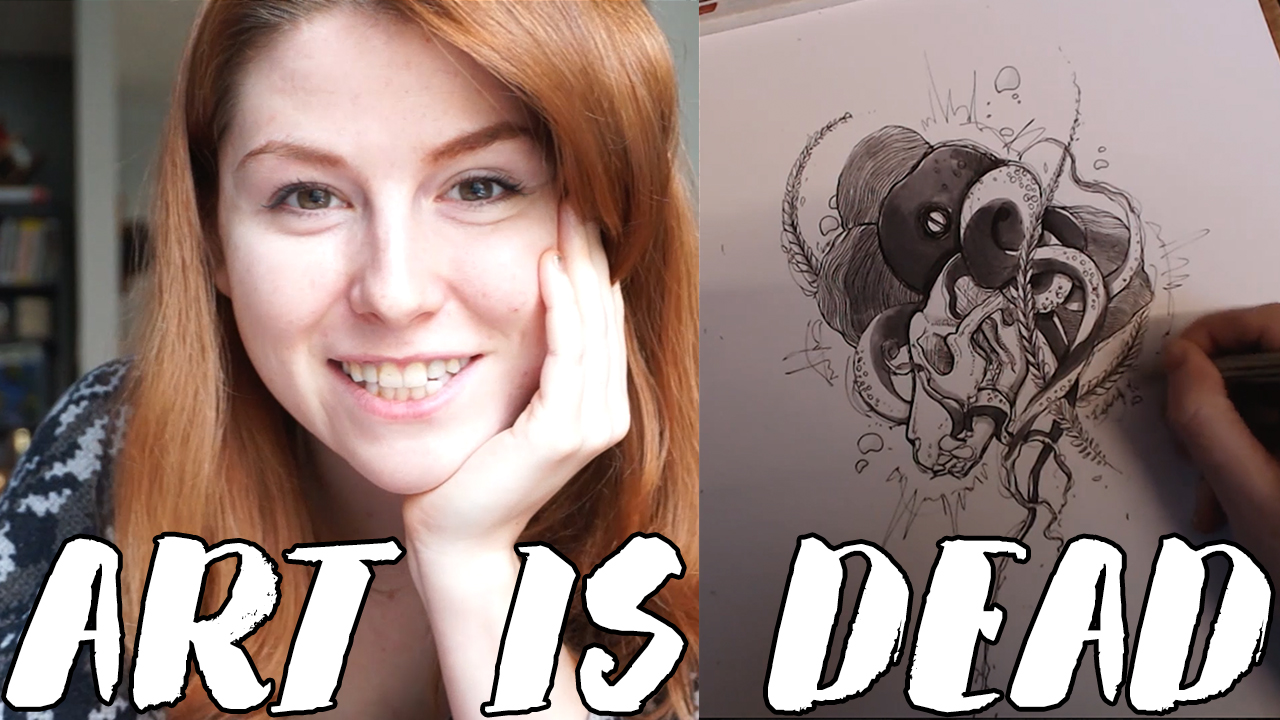 ART IS DEAD VLOG – Skull drawing // Rad Art with Beth Be Rad | Snarled