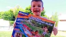 Summer Fun Slip N Slide Pool Party Worlds Best Slip Slide Pool Splash Summer Fun Little Ti