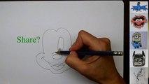 Dessin Comment à dessiner souris étape par étape pour enfants