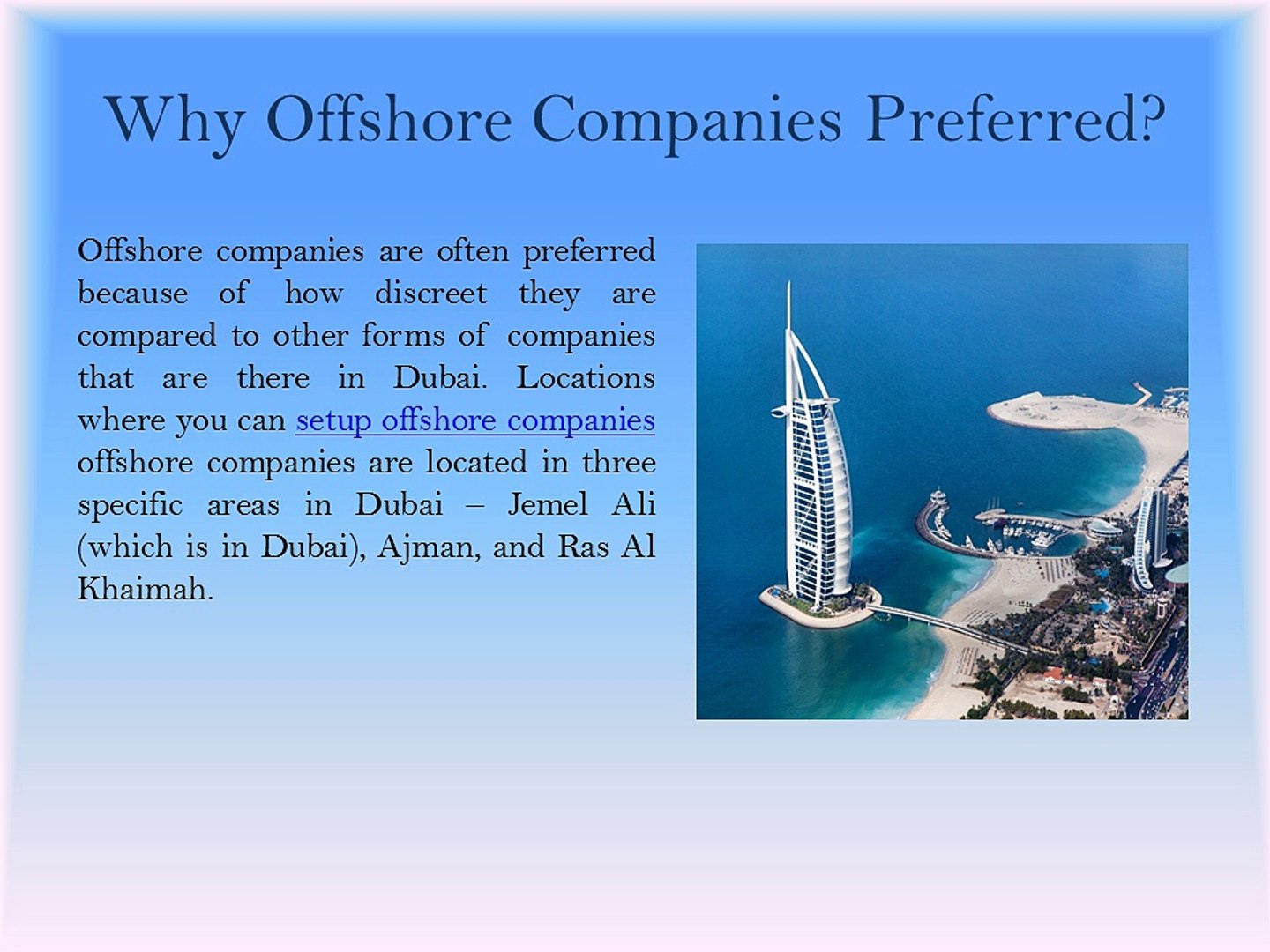 Business Setup Services - Opportunities and Obstacles of Offshore Company  in Dubai