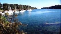 BRETAGNE : Petit port Breton Kerdruc près de Pont Aven et Nevez