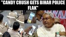 Bihar Police plays Candy crush while CM Nitish Kumar addresses seminar |  Oneindia News