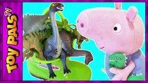 Et démarrage bateau dinosaure dinosaures pour enfants porc jouet vidéos avec Peppa surprise de Peppa George