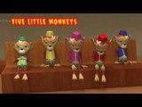 5 Five Little Monkeys Jumping on the Bed    Monkeys Version    Five Little Monkeys Kids Rhyme