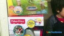 Et bulle bulles la famille amusement amusement ouragan pelouse tondeuse étang avec Machine gazillion