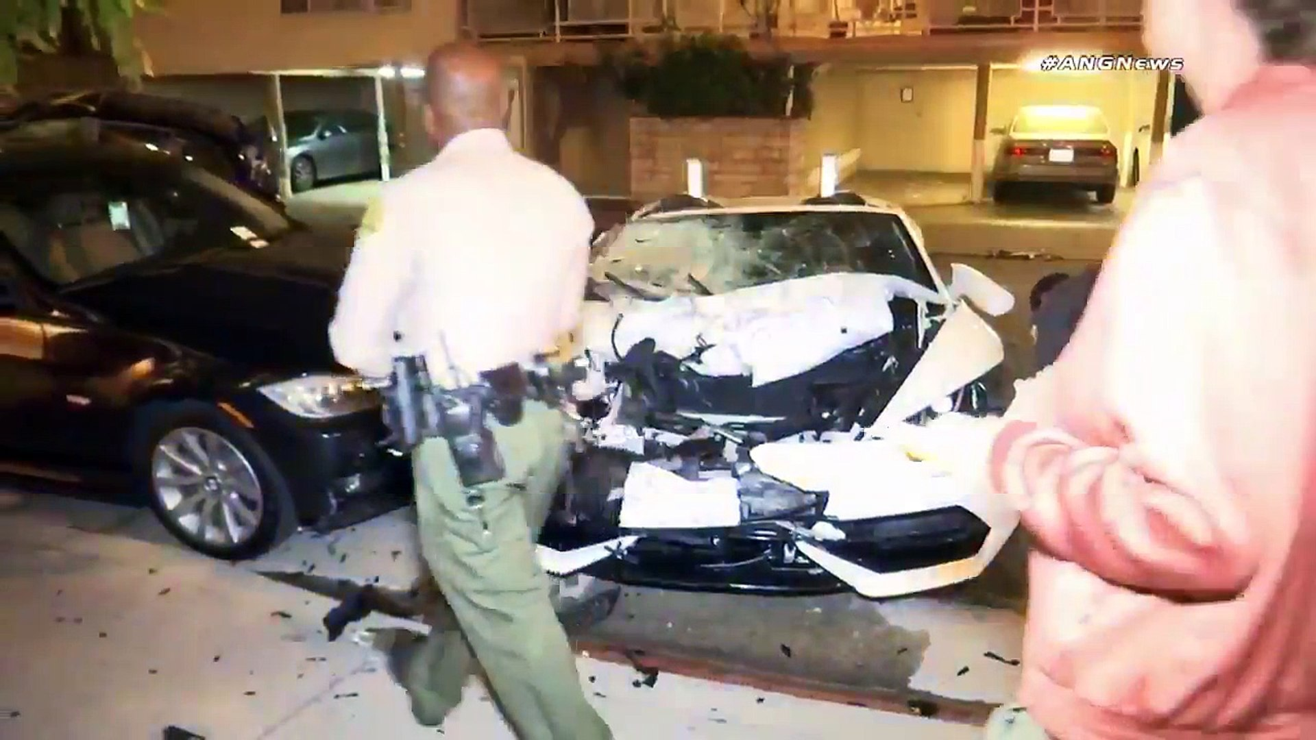 Nba Youngboy Crashes Lamborghini Into Parked Cars Video Dailymotion