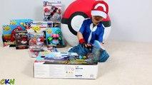 Et arène bataille défi amusement amusement ouverture prêt jouets déballage pokemon ashs pikachu ckn