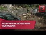 Continúan labores de limpieza en el municipio de Naucalpan