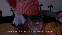 Klunatik Eating BRAINS, EYEBALLS and a TONGUE!!!  Kluna Tik Dinner #37  ASMR eating sounds face