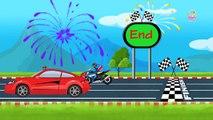 Sports Car Vs Sports Bike   Super Bikes & Car Racing for Kids   Kids Racing Videos - Baby Time