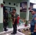 Panglima TNI, Jendral TNI Gatot Nurmantyo, saat mengunjungi Asrama TNI di Kompi bantuan Zi