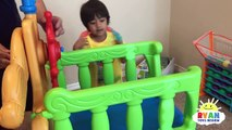 PIRATE SHIP BUILDING Family Fun Playtime with bad daddy Shark and Surprise Treasure Chest