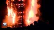 Incendie dans un immeuble de Londres nuit d'inquiétude pour les habitants et riverains
