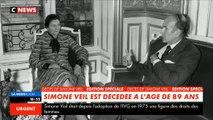 Figure de la vie politique française, rescapée de la Shoah, Simone Veil est morte ce matin à 89 ans