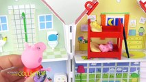 Peppa Pig in English. Peppa and George stay home alone. Peppa Pig and George play together