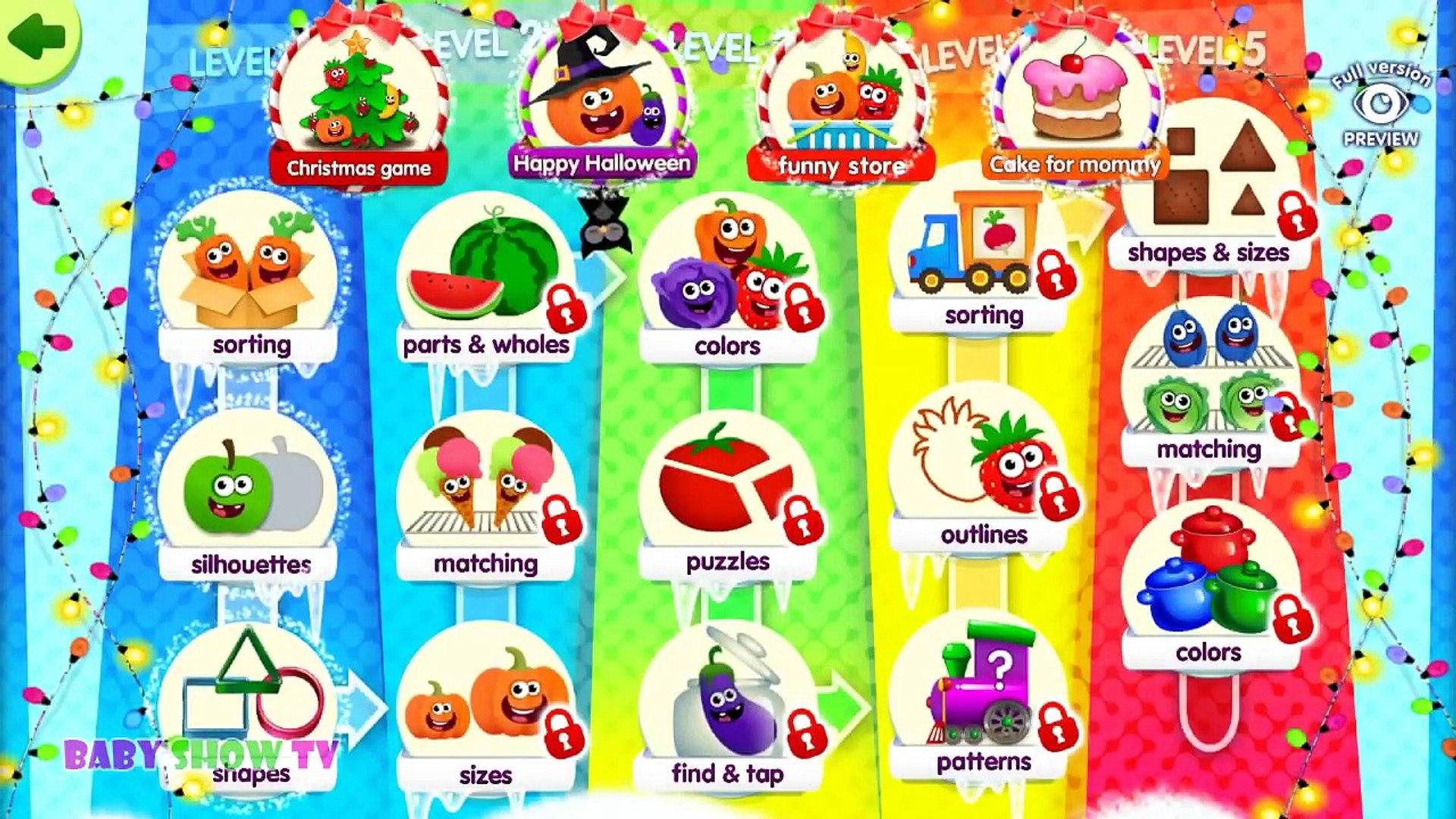 И цвета образовательных питание для фрукты Веселая игра Дети Дети ... Узнайте овощи с