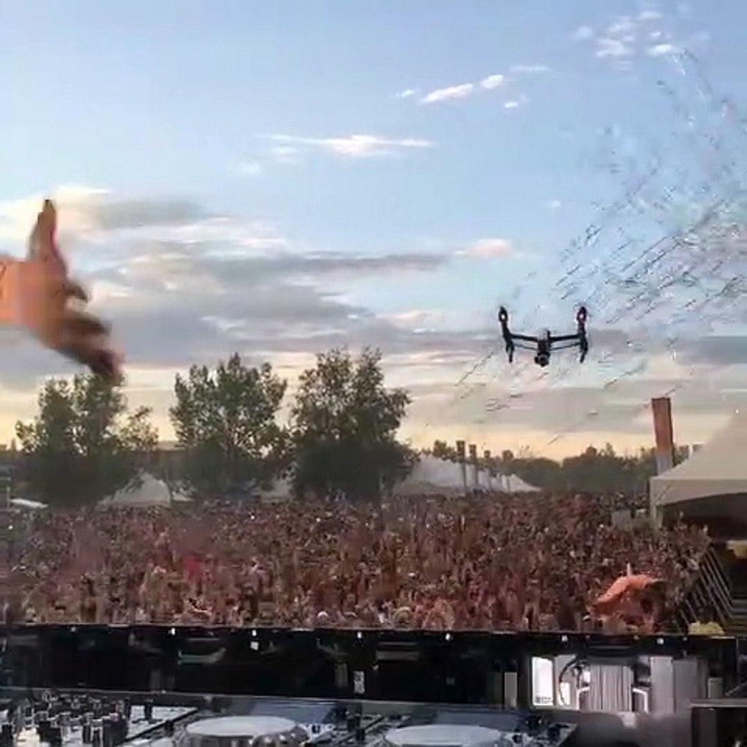 Amener son drone à un festival n'est pas une bonne idée