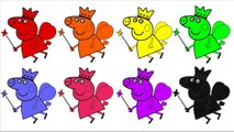 Learn Colors With Peppa Pig Princess Coloring Pages - Peppa Pig Costume Painting PEPPA PIG