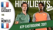 Richard GASQUET vs Gael MONFILS (HD Highlights) ATP Eastbourne 2017