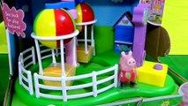 Ballon par par de luxe amusement amusement marteau parc porc balade jouet Peppa playset george hobbykidstv