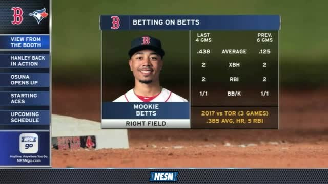 Red Sox Gameday Live: Mookie Betts Starting To Heat Up Offensively