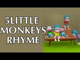 5 Little Monkeys Jumping On The Bed || Plus Lots More Rhymes || 3D Animation Rhymes