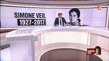 """Laurent Delahousse ouvre son 20h en rendant un hommage émouvant à Simone Veil: """"Madame vous étiez belle..."""""""